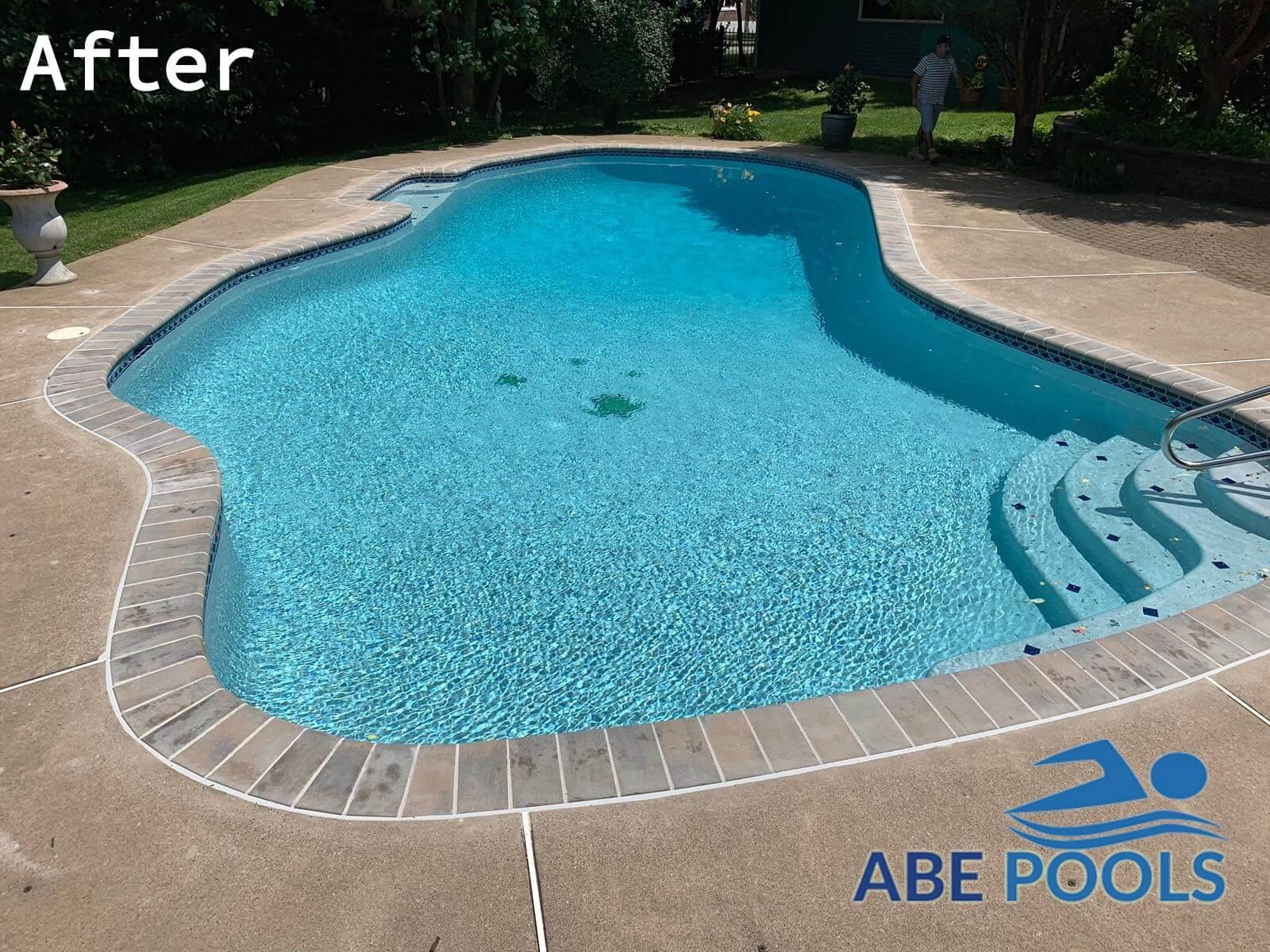 Concrete pool resurfacing