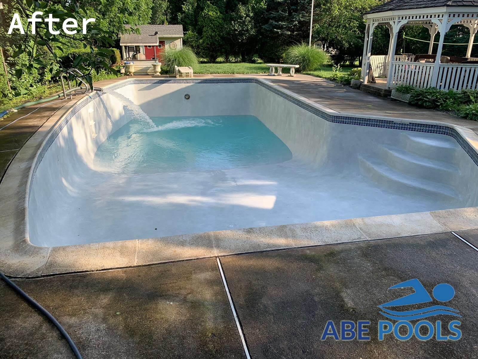 Concrete pool replaster